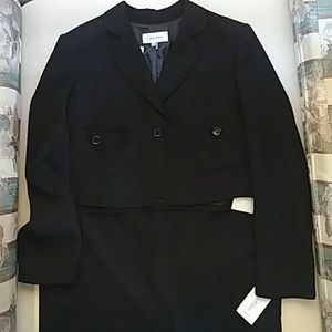 Calvin Klein Black 2pc Suit New With Tags